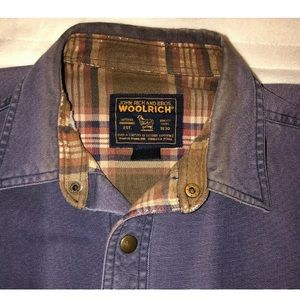 WOOLRICH Blue Long Sleeve Jacket Mens Large